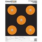 Champion Champion ShotKeeper Target Orange/Black 5 Large Bullseyes (12-Pack)
