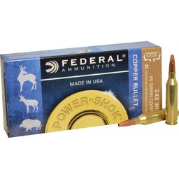 Federal Federal Power-Shok Copper Bullet .243 Win. 85 Grain LFHP (20-Rounds)