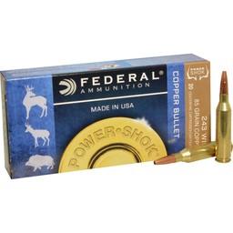 Federal Power-Shok Copper Bullet .243 Win. 85 Grain LFHP (20-Rounds)