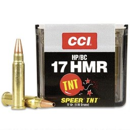 CCI TNT Varmint .17 HMR 17 Grain Jacketed Hollow Point (50-Rounds)