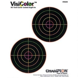 Champion VisiColor 50 Yard Color Coded Sight-In Target (10-Pack)