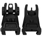 IMI Defense IMI TFS Tactical Polymer Flip-Up Sight Set (Front and Rear) Black