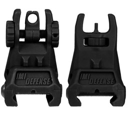 IMI TFS Tactical Polymer Flip-Up Sight Set (Front and Rear) Black