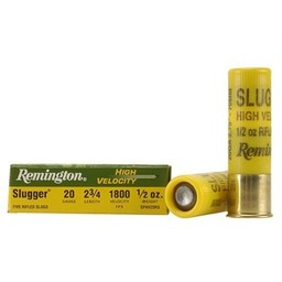 Remington High Velocity Slugger Shotgun Shells (5-Rounds)