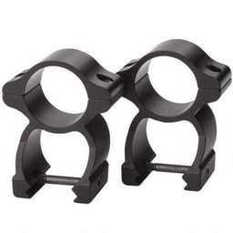 """Traditions Scope Rings See-Through 1"""" Gloss Black"""