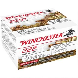 Winchester .22LR 36 Grain 1280FPS Hollow Point Copper Plated