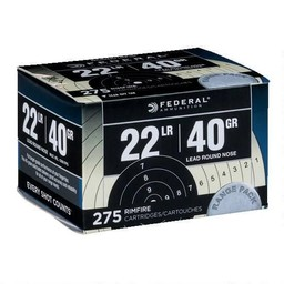 Federal .22LR 40 Grain Lead Round Nose 1200FPS (275-Rounds)