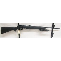 """UG-11445 USED Savage 93R17 .17HMR Black Synthetic Bolt Action w/ 6-9"""" Bipod (mint condition)"""
