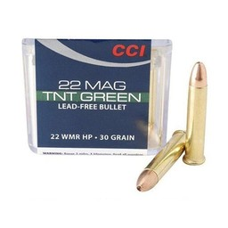 CCI .22 WMR 30 Grain TNT Green Hollow Point (50-Rounds)
