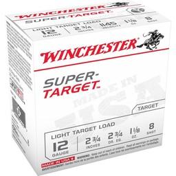 Winchester Super Target 12 Gauge Shot #8 1 1/8 Ounce (250-Rounds)
