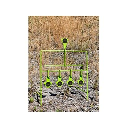 Shooting Made Easy SME Auto Reset .22 Caliber Target Stand High Visibility