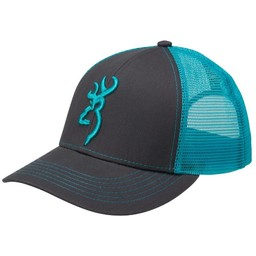 Browning Browning Flashback Cap Charcoal/Neon Blue