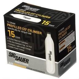 Sig Sauer Prefilled Co2 Cylinder 12 Gram (15-Count)