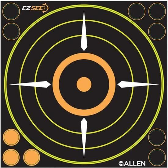 "Allen Adhesive EZ See 8"" Sight-In Target (6-Pack)"