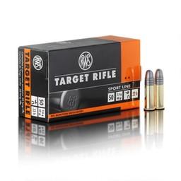 RWS Target Rifle .22LR 40 Grain Round Nose Sport Line (50-Rounds)