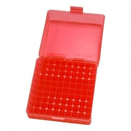 MTM Case Guard .22 Magnum 100 Rounds Case Clear Red
