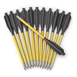 Bolt Crossbows Bolt Crossbows Aluminum Bolts w/ Metal Tips (12-Pack)