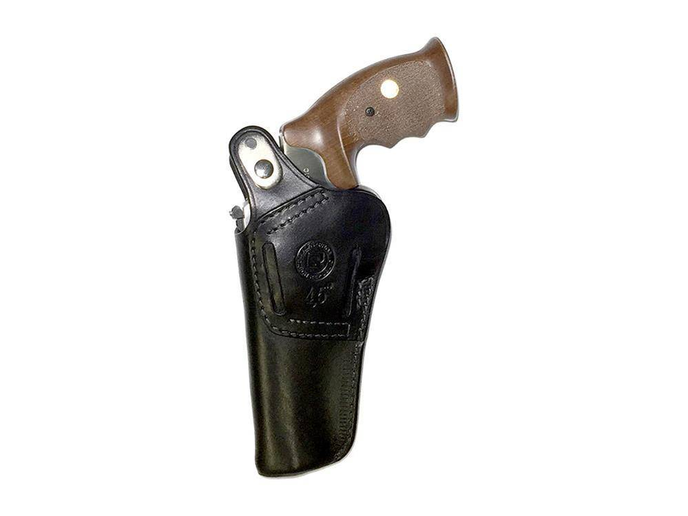 "Alfa Proj 4.5"" Black Leather Holster Right Hand"