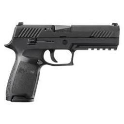 "Sig Sauer P320 9mm 4.7"" Barrel Nitron Black DOA Contrast Sights w/ 2 10-Round Magazines"