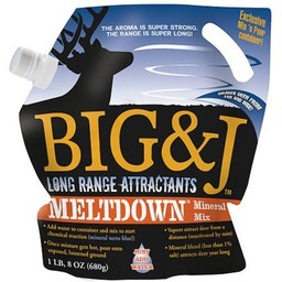 Big & J Meltdown Mineral Mix 1.5# Bag, Long Range Attractant