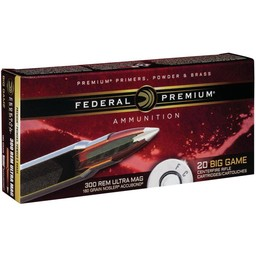 Federal Premium Federal Premium Big Game .300 Rem. Ultra Mag. 180 Grain Nosler Accubond