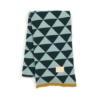 Ferm Living Remix Blanket Green