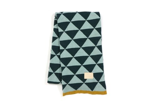 Ferm Living Remix Blanket Green