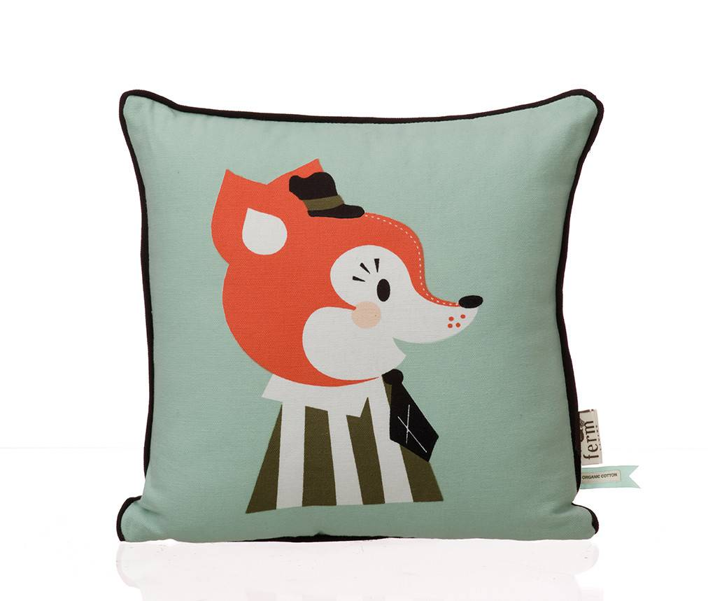 mr frank fox kids pillow  lappartement concept store - ferm living mr frank fox kids pillow
