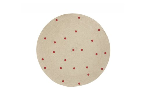 Ferm Living Dots Round Carpet