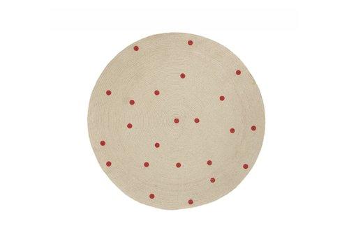 Ferm Living Dots Round Carpet