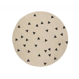 Ferm Living Triangle Round Carpet