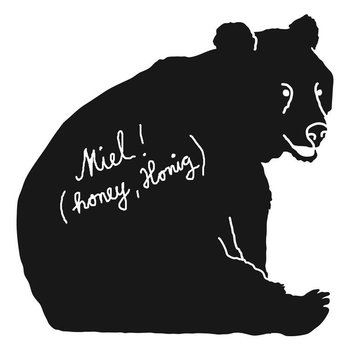 Mimilou Bear Chalkboard Wallsticker