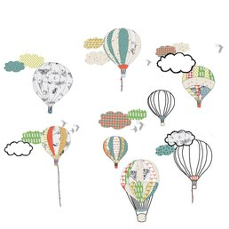 Mimilou Hot Air Balloons Wall Sticker