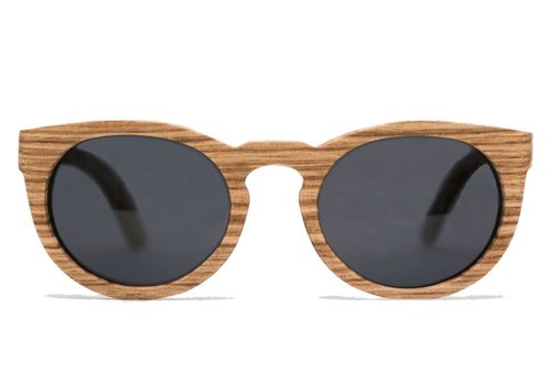 Rezin Kiara Zebrawood Sunglasses