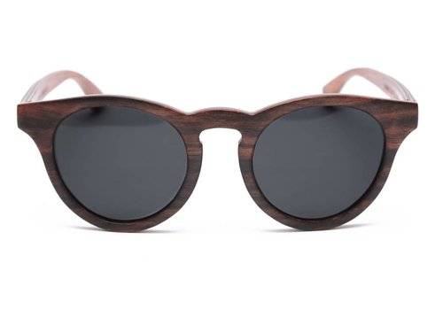 Rezin Nelson Black Wood Sunglasses