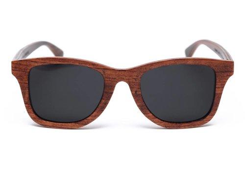 Rezin Gallagher Brown Wood Sunglasses