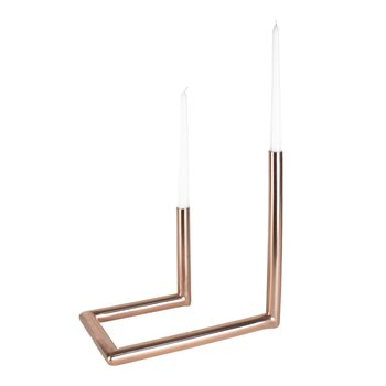 Coming B Copper Candelabra Duo