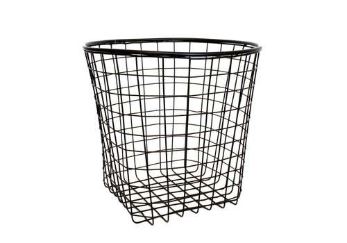 Coming B Black round Metal Basket