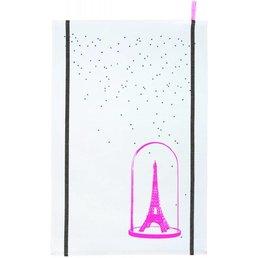 La cerise sur le gateau Eiffel Pink Tea Towel