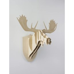 Moustache Moose wooden decor