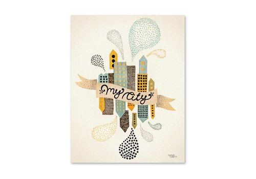 Michelle Carlslund My City Poster 50 X 70 CM