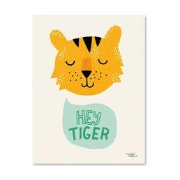 Michelle Carlslund Hey Tiger Poster A4