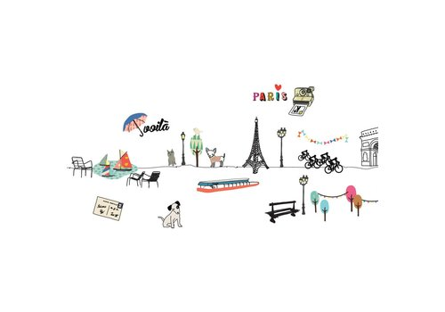 Mimilou Mimilou Paris Wall Sticker