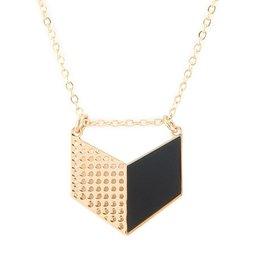 Alphabeta Chevron Necklace