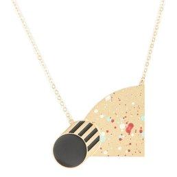 Alphabeta Polock Half Moon Necklace