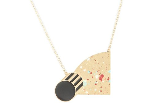 Alphabeta Polock Half Moon Necklace