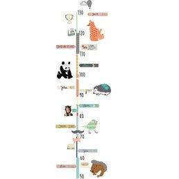 Mimilou English Height Chart Wall Sticker