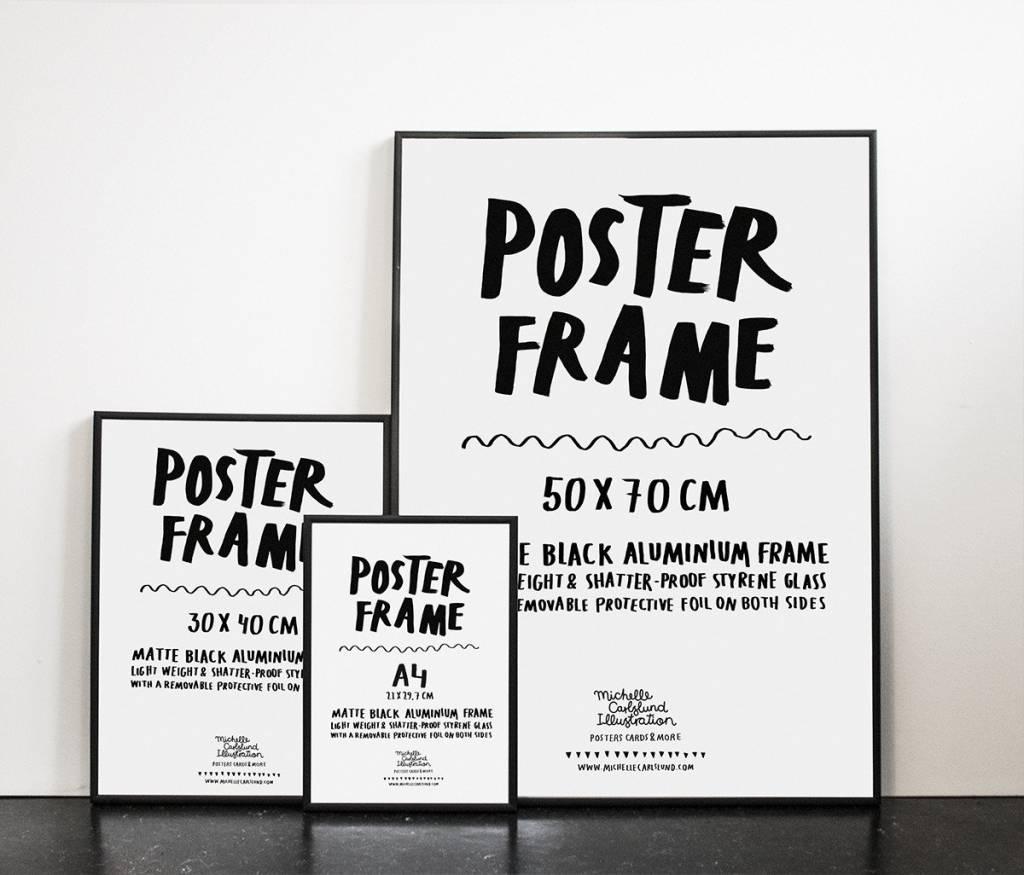 michelle carlslund black frame 30 x 40 cm hoem