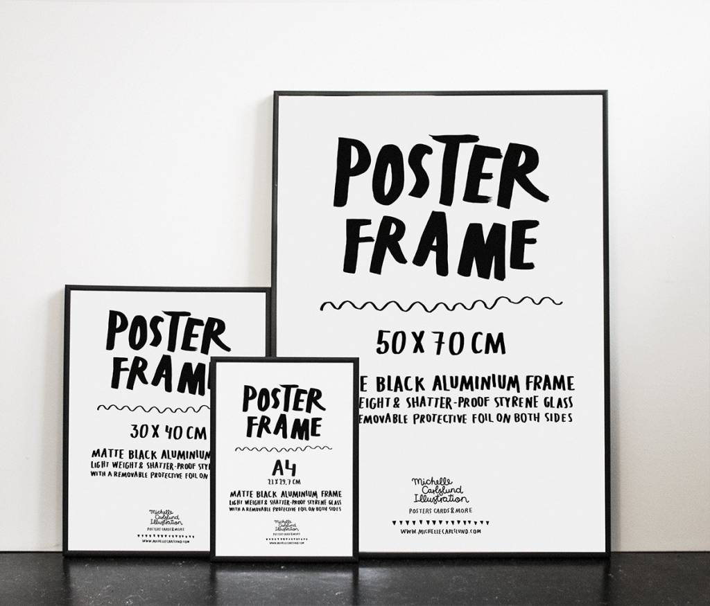 Michelle Carlslund Black Frame 30 X 40 Cm Lappartement