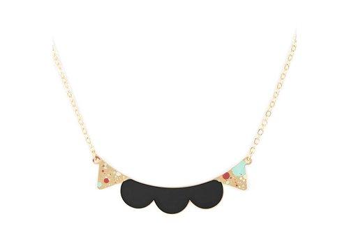 Alphabeta Polock Lace Necklace